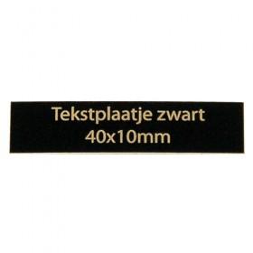 Luxe relatiegeschenken van Artihove - Tekstplaatje zwart 40x10 mm - 000094MTP