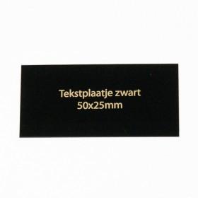 Luxe relatiegeschenken van Artihove - Tekstplaatje zwart 50x25 mm - 016578MTP