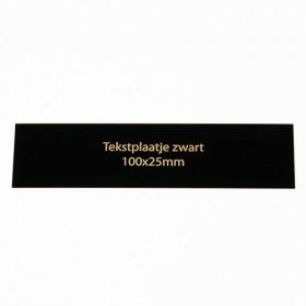 Luxe relatiegeschenken van Artihove - Tekstplaatje zwart 100x25 mm - 016584MTP