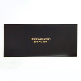 Luxe relatiegeschenken van Artihove - Tekstplaatje zwart 80x40 mm - 019189MTP