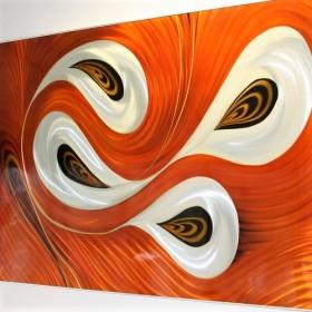 Luxe relatiegeschenken van Artihove - Aluminium orange swirl - ALU001012