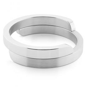 Luxe relatiegeschenken van Artihove - Clic, armband zilver mat, gepolijst - CLCM001010