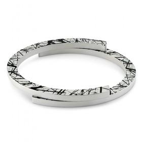 Luxe relatiegeschenken van Artihove - Clic, armband zwart gestreept - CLCM001014