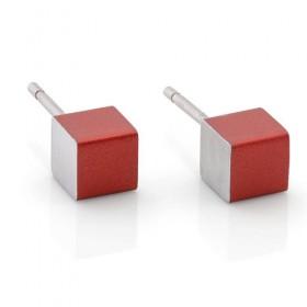 Luxe relatiegeschenken van Artihove - Clic, oorstekers rood - CLCM001024