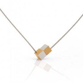 Luxe relatiegeschenken van Artihove - Clic, collier blok geel - CLCM001043
