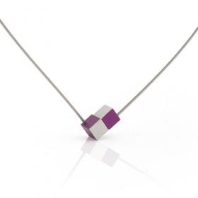Luxe relatiegeschenken van Artihove - Clic, collier blok paars - CLCM001044