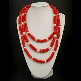 Luxe relatiegeschenken van Artihove - Tjon a ten, ketting rood/ parels - EVIM000001