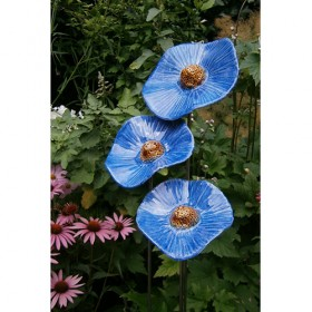 Luxe relatiegeschenken van Artihove - Jongejan, set van 3 klaprozen blauw - HILM005040