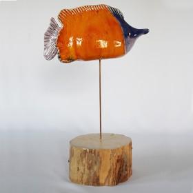 Luxe relatiegeschenken van Artihove - Scholten, vis oranje blauw - ILSM000023