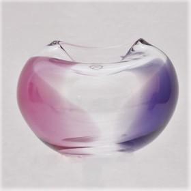 Luxe relatiegeschenken van Artihove - Loranto, vaas rose/lila laag - LOR001042